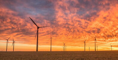 windmill energy renewable sunset